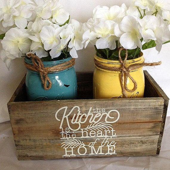 Mason Jar Kitchen Decor Set: Best 20+ Rustic Mason Jars Ideas On Pinterest