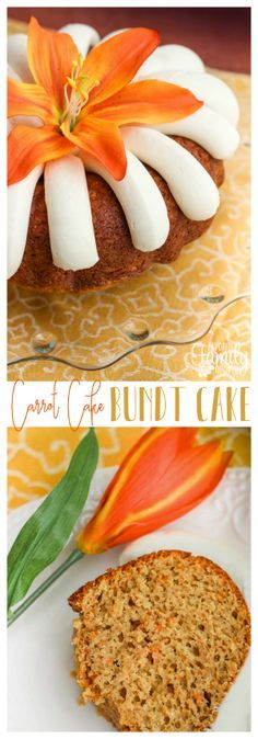 Our Nothing Bundt Cake's Carrot Cake Copycat is easy to make and so delicious! Always a hit at parties and special events. via @favfamilyrecipz