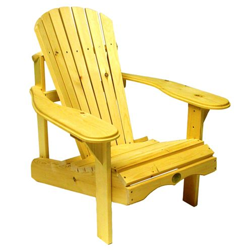 Bear Chair Pine Adirondack Chair Kit perfect for sunshine and relaxing!