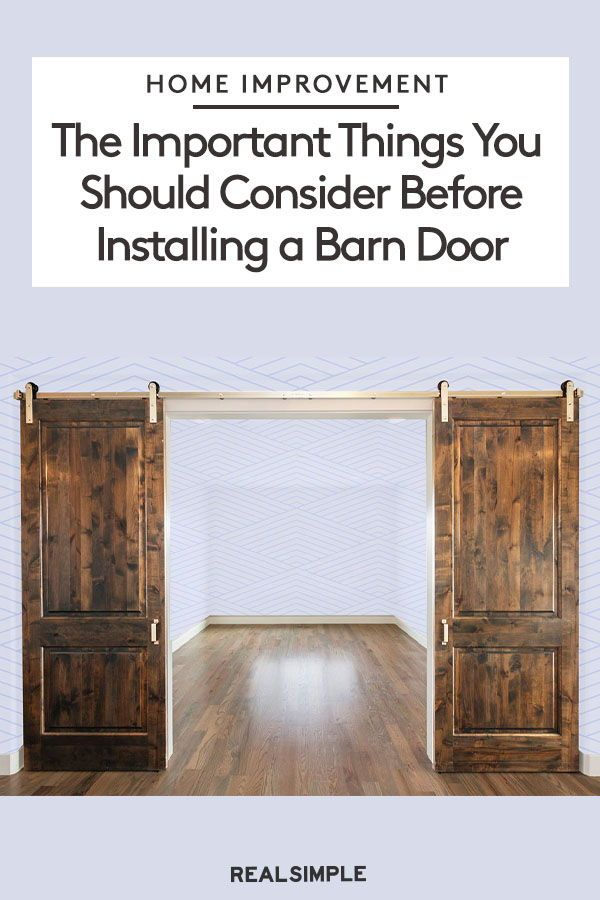 The Important Things You Have To Consider Before Installing A Barn Door Barn Door Interior Barn Doors Barn