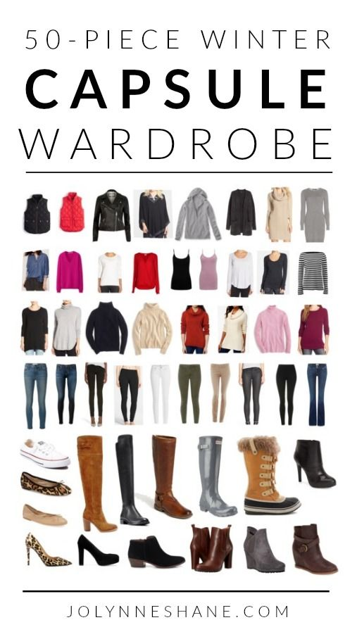 I'm so excited to share my 50-piece WINTER CAPSULE WARDROBE 2016 with product links!