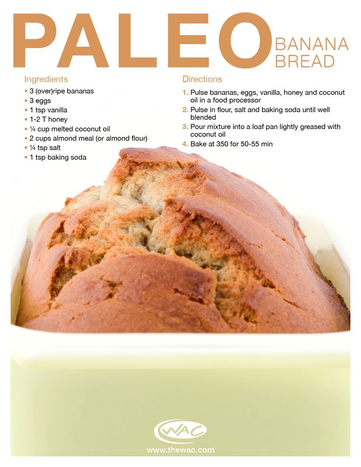 Paleo Banana Bread #TheWAC #Recipe #Bananas