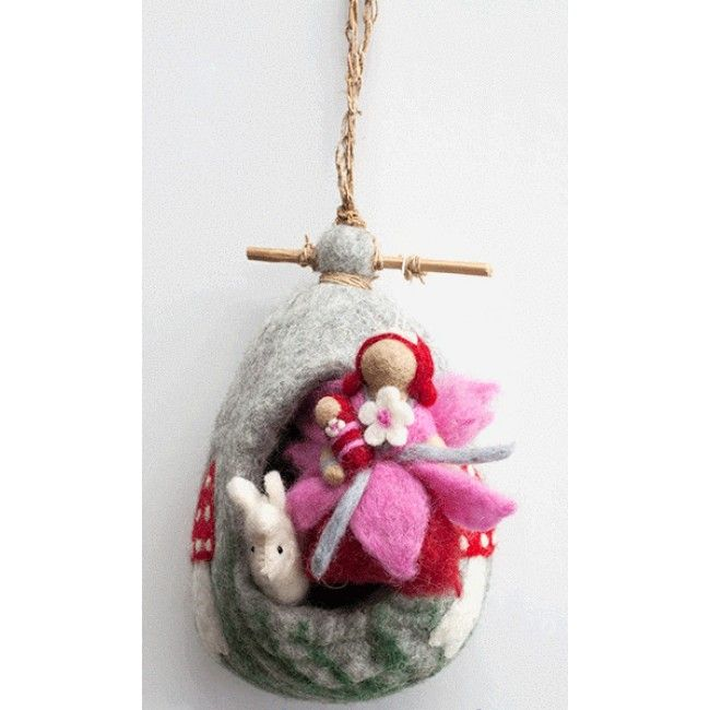 nic-nac - Felt Hanging Home Fairy and Alpaca