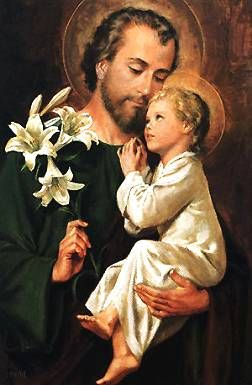 Saint Joseph - patron of husbands, foster parents, families, homebuyers, workers, the Universal Church, and a happy death.