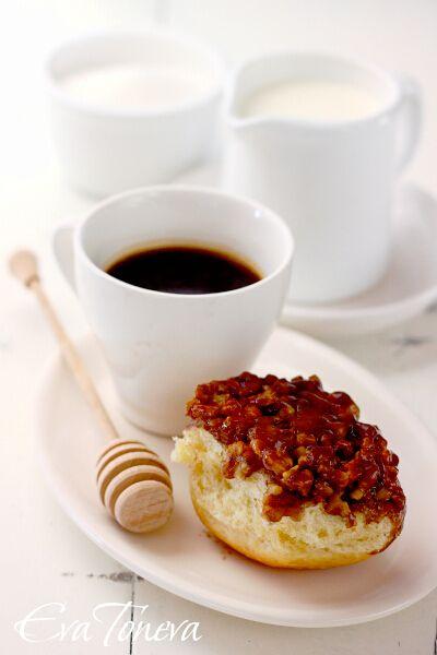 Buns with honey and walnuts | ZALOGAJI | Pinterest