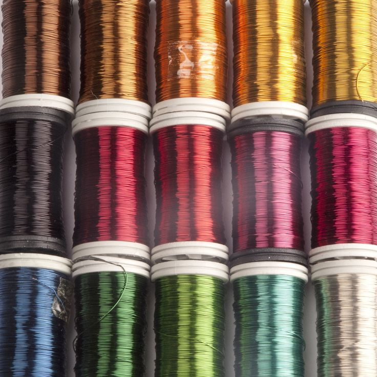 Colored Copper Wire , Pick 4 Colors, Craft Supply , Wire Crochet Supply