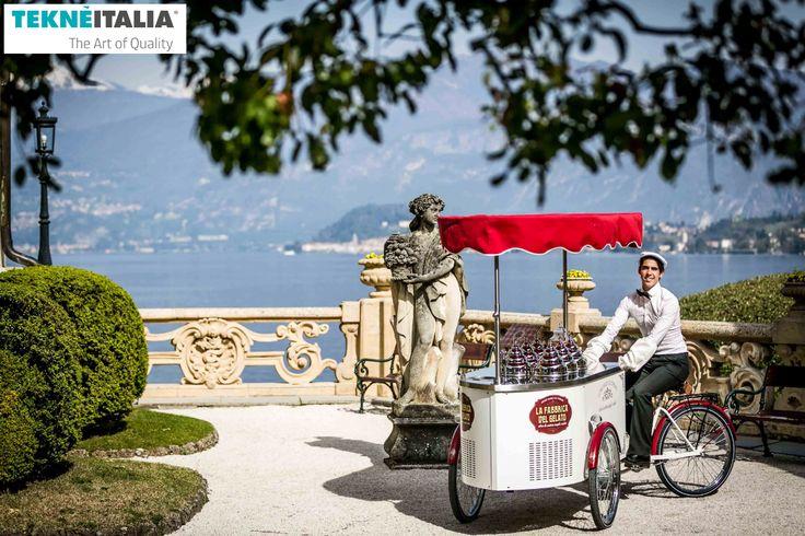@Tekneitalia italian ice cream gelato cart - Lake Como for wedding matrimonio ceremony