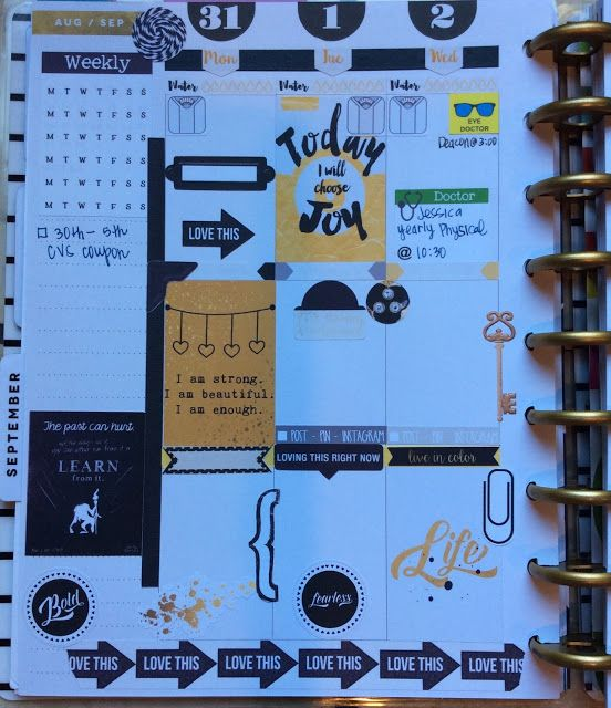 Black, White, & Gold Sampler - Free Planner Printable | My Planner Envy