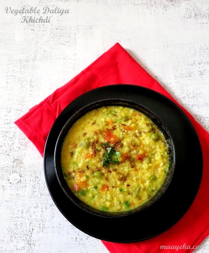Vegetable Daliya Khichdi   Healthy lentil,vegetable and broken wheat porridge   I need a pressure cooker for this