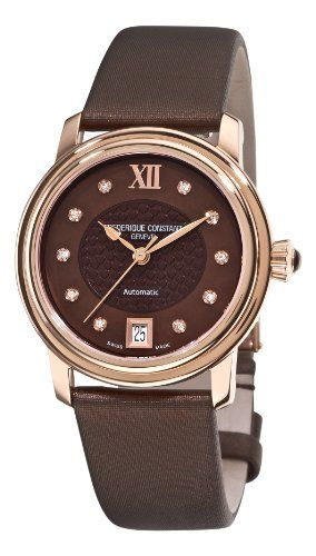 Frederique Constant Women`s FC-303CHD2P4 Automatic Brown Diamond Watch