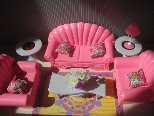 Barbie Size Dollhouse Furniture Living Room Set By Zfinding