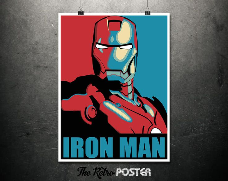 Iron Man - Boys Room Prints, Boys Bedroom, Boys Prints, Iron Man Poster, Iron Man Print, Marvel Poster, Avengers Gift, Man Cave Decor by TheRetroPoster on Etsy
