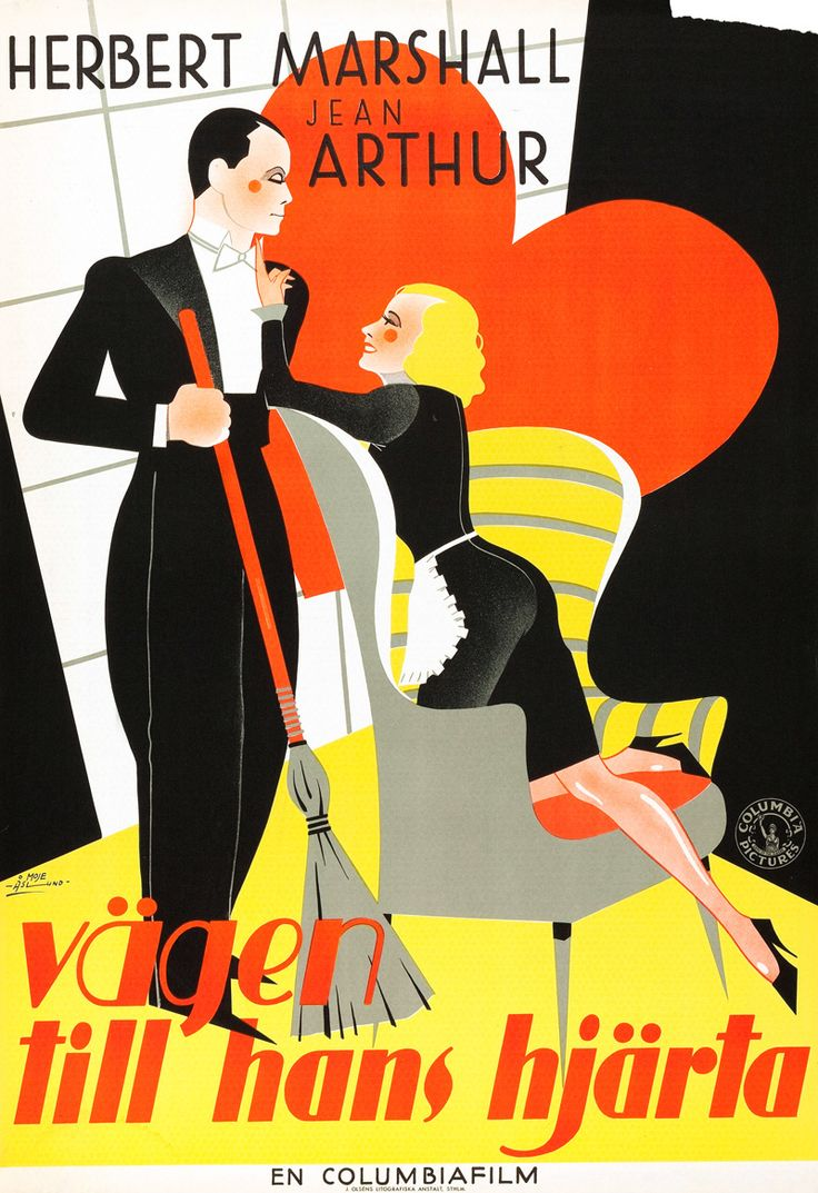 """Swedish poster for """"If You Could Only Cook,"""" (1935"""