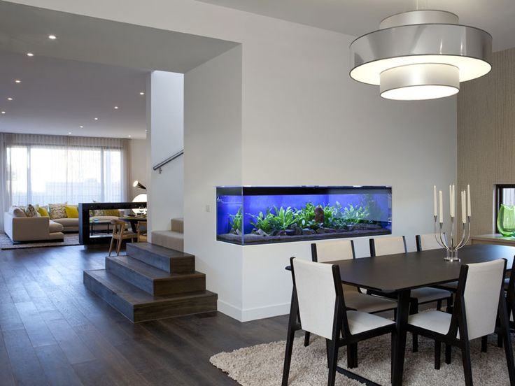 Formal Dining With Feature Built In Aquarium.