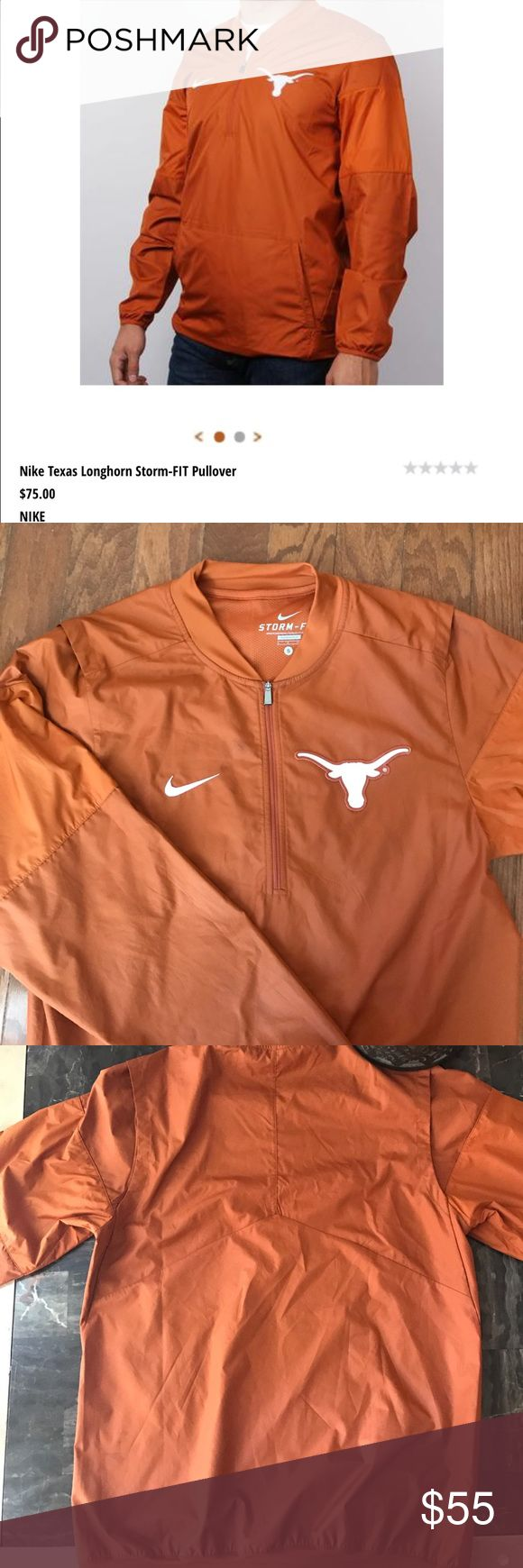 Nike Texas ut longhorn windbreaker jacket This is a unisex windbreaker jacket for the University of Texas. Has a pocket , no hood and it's pretty warm for a windbreaker. It Is in great condition worn a few times. Will be open to offers! Nike Jackets & Coats