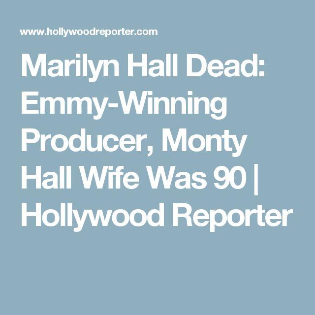 Marilyn Hall Dead: Emmy-Winning Producer, Monty Hall Wife Was 90   Hollywood Reporter
