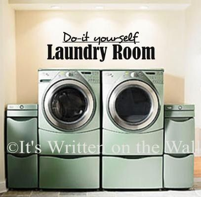 212 best laundry rooms images on pinterest laundry detergent do it yourself laundry room vinyl lettering wall saying solutioingenieria Image collections