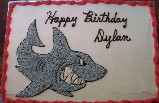 shark birthday cake by Aunt Lillys, via Flickr