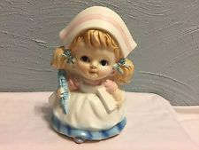 Vintage Japan Nurse Figurine Planter with hypodermic needle Glossy