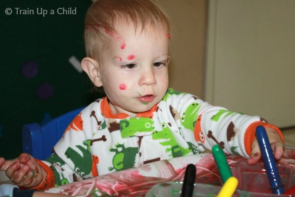 Train Up a Child: TWO INGREDIENT Baby and Toddler Safe Paint
