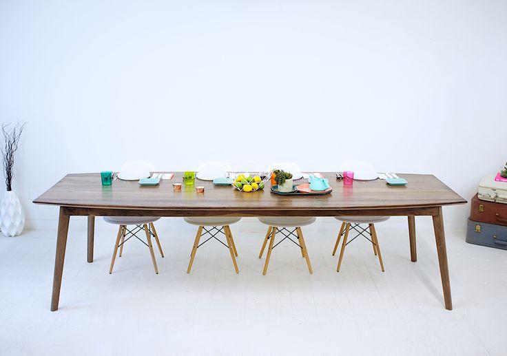 Custom Made Santa Monica Solid Walnut Dining Table: Large  116L x 36W X 30H