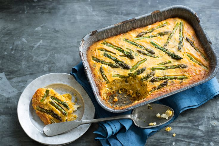 For a Greek-style, gluten-free #quiche, try this asparagus, polenta and feta pie (kourkouto). Listen to the audio recipe.