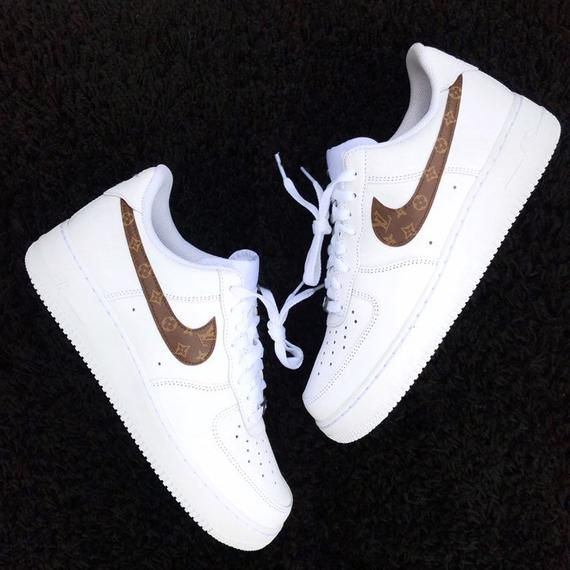 Louis Vuitton Swoosh Nike Air Force 1 Custom | Nike air ...