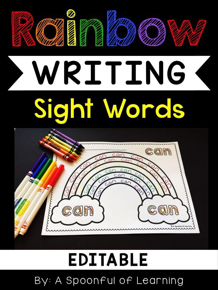 Rainbow Writing EDITABLE