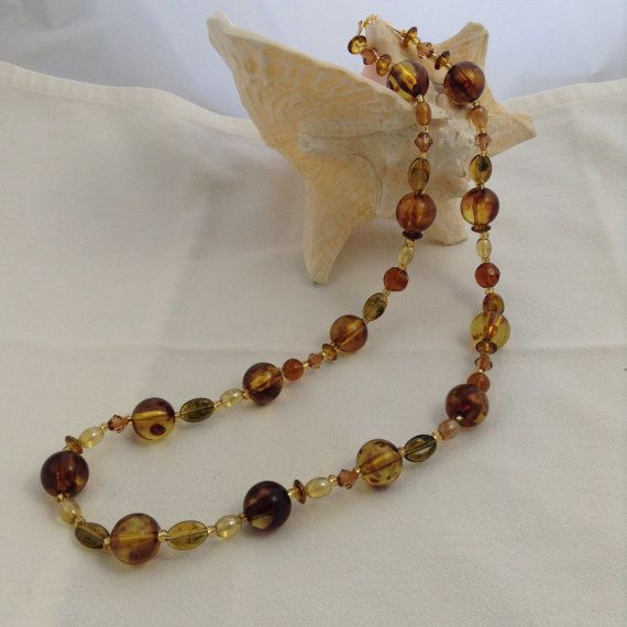 Amazing Amber 28 Inch Necklace Various Shapes by PebblesAndTwiggs