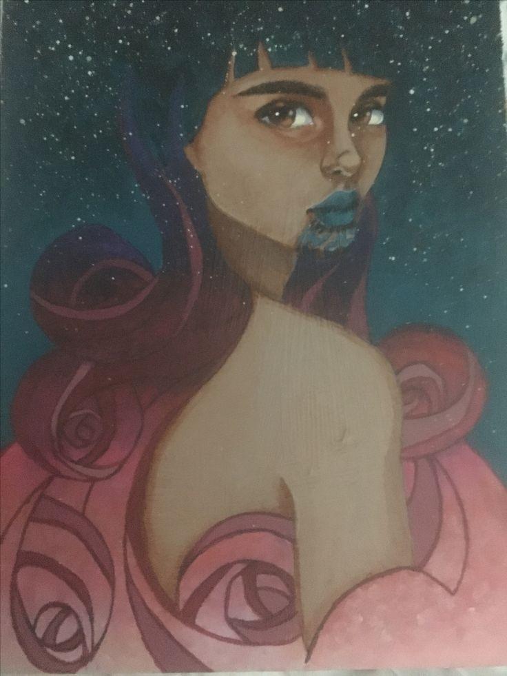 Hine-nui-te-po. Artist: Lisa Brett @woolybutt.designs Hine-nui-te-po: Maori goddess of night and death and ruler of the underworld.