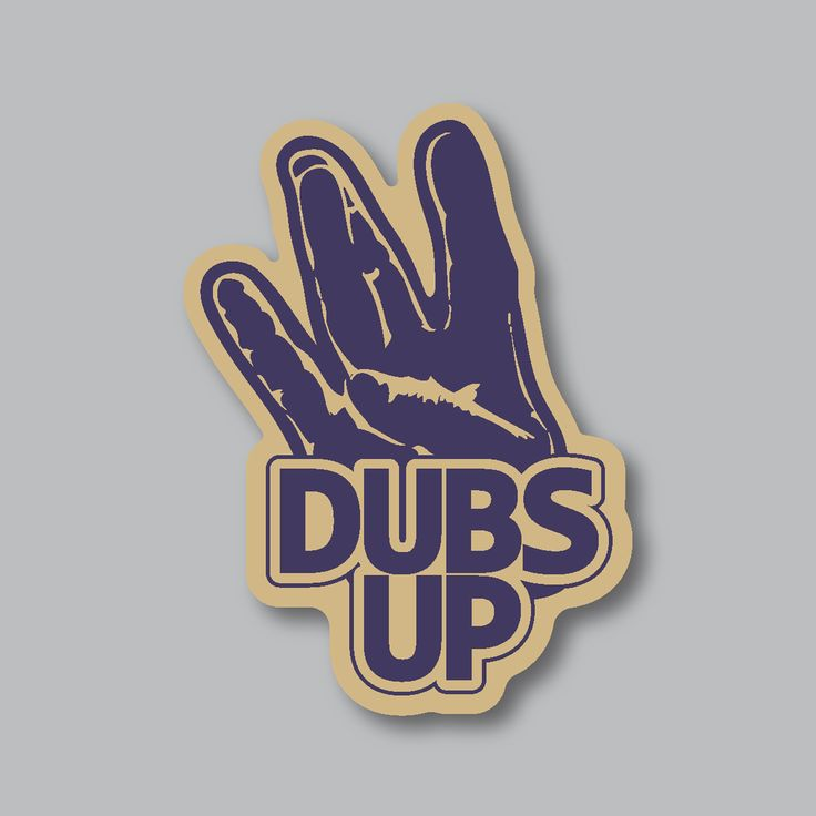 Represent your University of Washington Huskies with our Dubs Up sticker! The perfect gift for any UW football, basketball, baseball, volleyball or any other sporting event fan! These are available with all our other PNW and sporting goods at www.stickersnorthwest.com