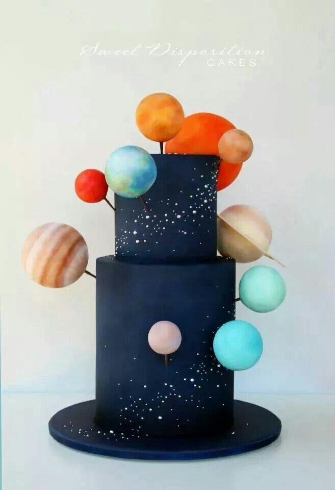 Space Cake von Sweet Desposition Cakes Galaxy, Sterne, Planeten