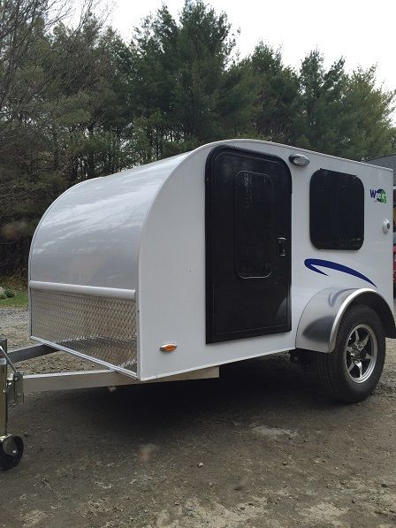 """Loving the WeeGo Teardrop Trailer ! 5"""" thick mattress, lots of storage, full galley area and more..."""