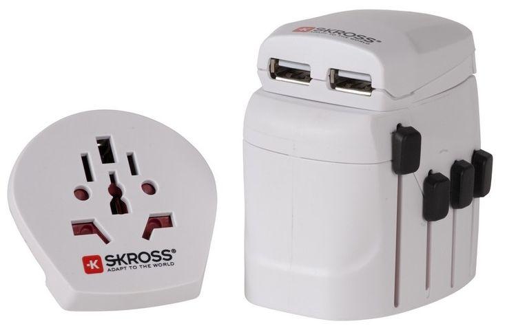 Αντάπτορας Ταξιδιού Skross World Pro + USB | www.lightgear.gr