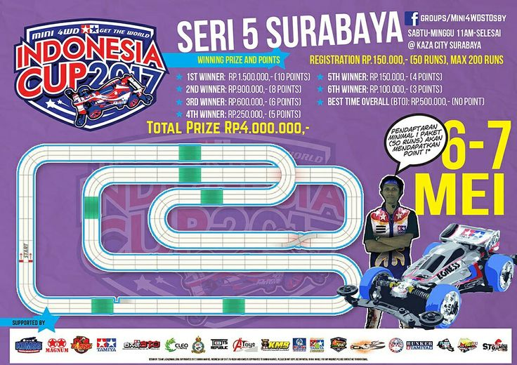 This weekend guys don't miss it #gettheworld #tamiyaindonesia #Mini4WD #TamiyaMini4WD #IndonesiaCup2017 #IC2017 #KOMSS #STO100 #ミニ四駆 #tamiya #TOS #STO #TamiyaOriginalSeratus #furush #teamflazh #asiachallenge2017