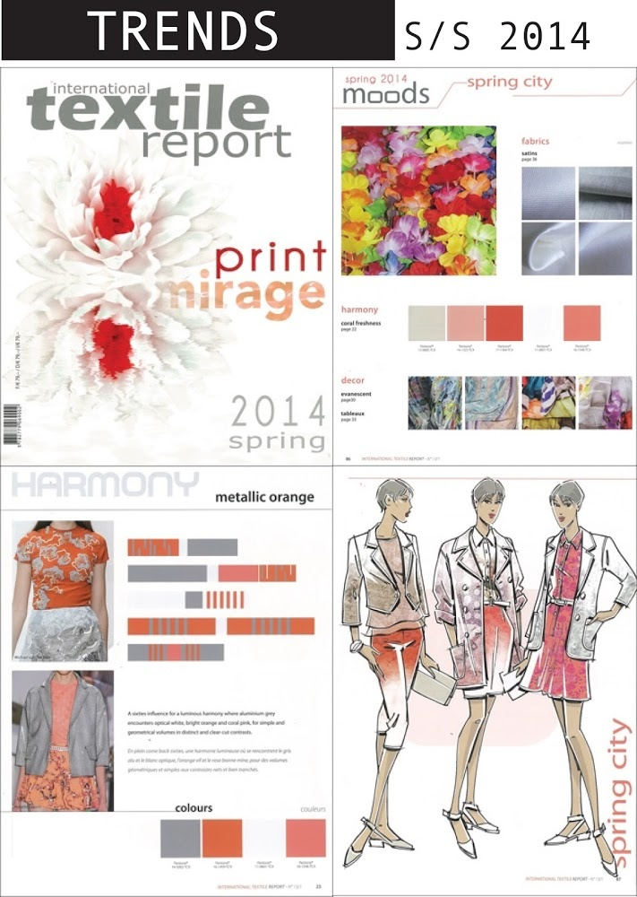 FASHION VIGNETTE: TRENDS// TEXTILE REPORT . S/S 2014