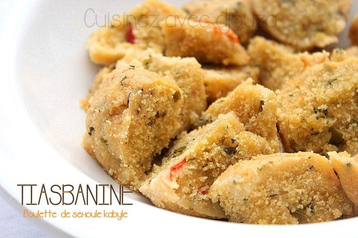 recette tikerbabine, boulettes de semoule kabyle