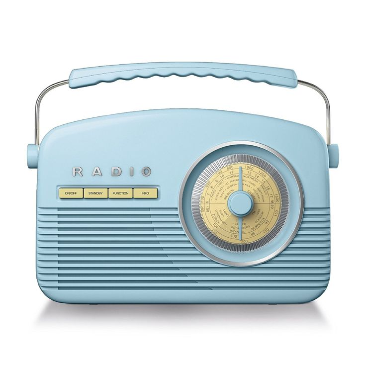 Akai A60010BLDAB Retro DAB Radio Alarm Clock with LCD Display and Backlight - Blue: Amazon.co.uk: TV