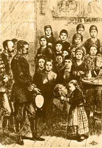 Посрещане на русите в Калофер