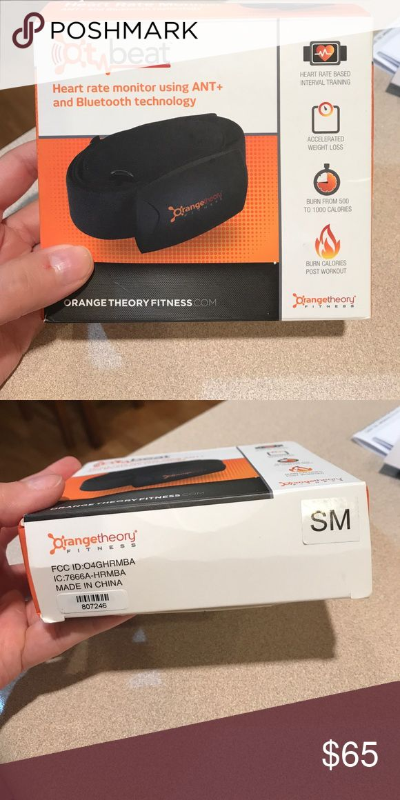 Orange theory fitness heart rate monitor New and in box. I purchased a new one and found my old one! Comes with everything. Accessories