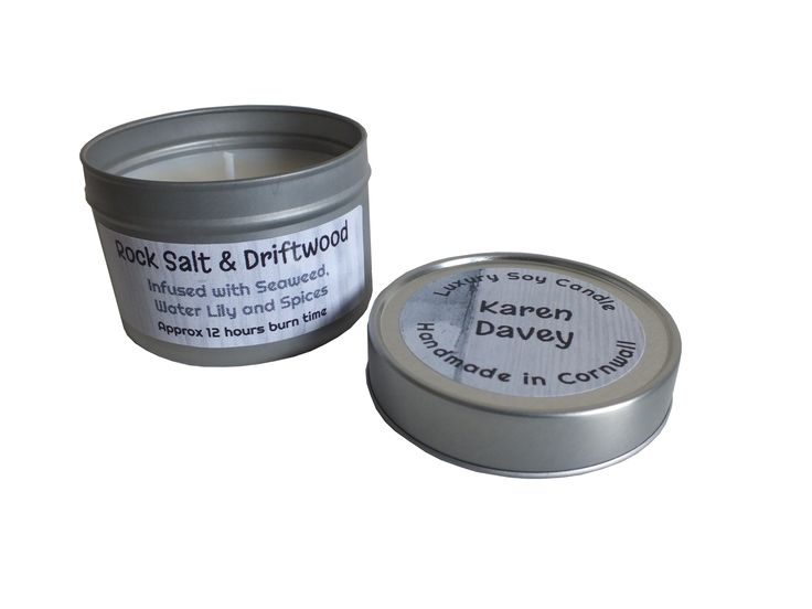 Rock Salt and Driftwood Soy Candle Tin