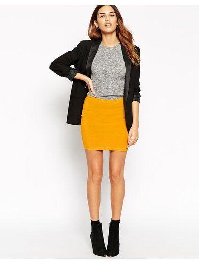 ASOS Mini Skirt in Jersey - Yellow