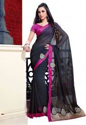 http://www.desibutik.com/saree/black-chiffon-saree-with-pink-dhupion-blouse/pv733-itemcode/