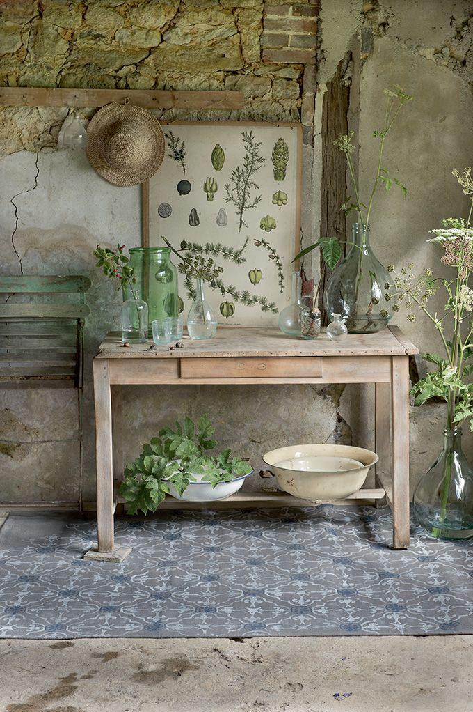 un cadre DIY au pochoir pour le jardin - Marie Claire Idées