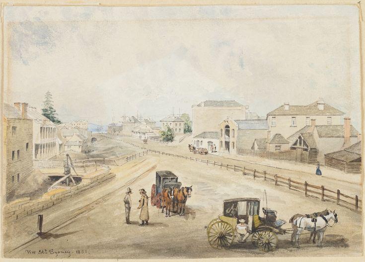 Pitt St,Sydney in 1851.