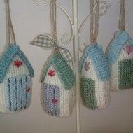 knitted beach hut
