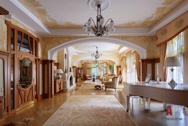 Фото интерьера гостиной дома в стиле модерн