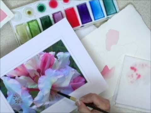 Peony   Learn to Paint Watercolors - Watercolor Techniques - Graduated Wash
