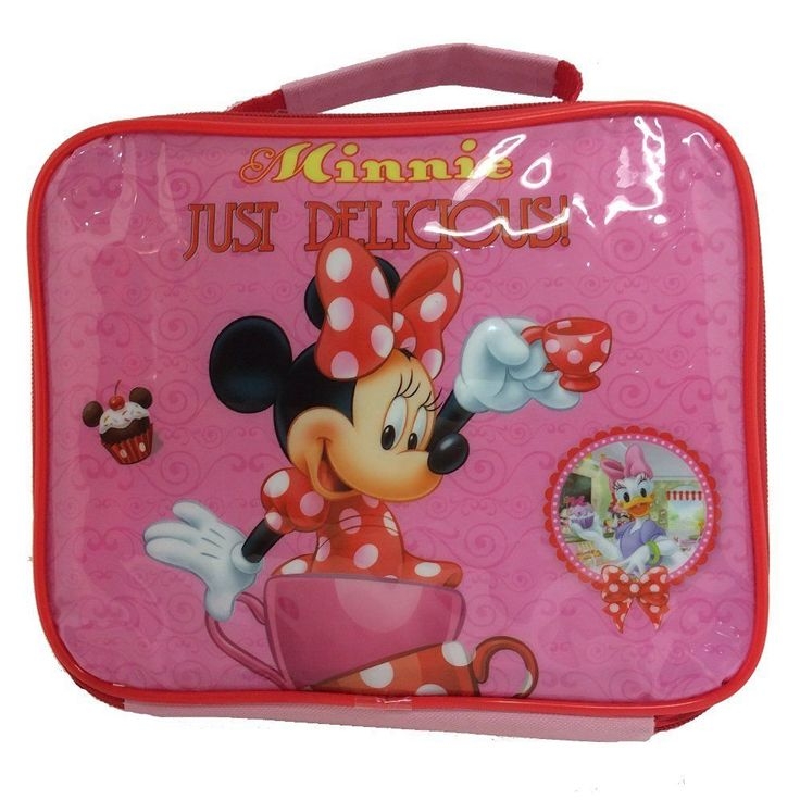 DISNEY MINNIE MOUSE INSULATED THERMAL LUNCH BAG BOX SCHOOL PINK JUST DELICIOUS in Home, Furniture & DIY, Children's Home & Furniture, Kitchen & Dining | eBay