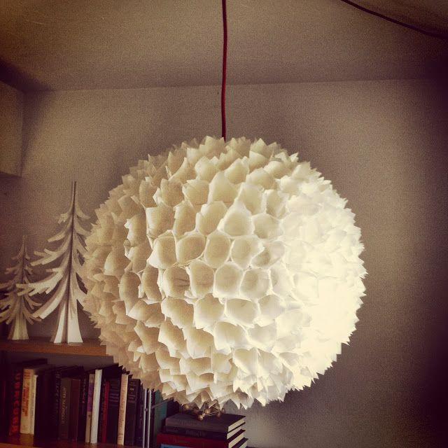 Large scale illuminated paper moon lantern from poppy haus woodland pinata art by tiffanie - Paper lantern chandelier ...